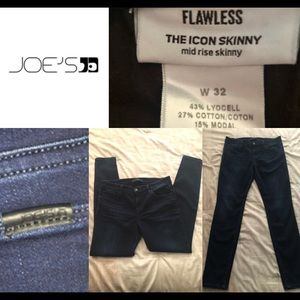 "Joe's Jeans 32"" The Icon Mid Rise Skinny Dark"